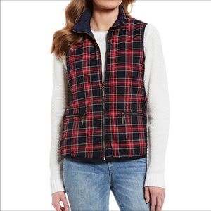 NWT Copper Key Reversible Plaid Quilted Vest